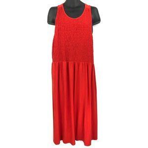 BP Red Criss Cross Back Dress 4X